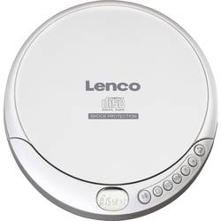 Prijenosni CD player Lenco CD-201 CD, CD-R, CD-RW, MP3 Funkcija punjenja baterije Srebrna