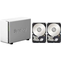 Synology DiskStation DS218j-8TB-BC nas strežnik 8 TB 2 Bay opremljen z 2x 4tb