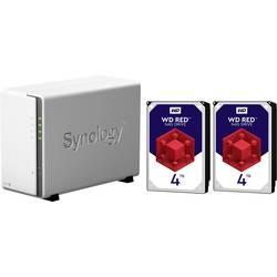 Synology DiskStation DS218j-8TB-RED NAS strežnik 8 TB 2 Bay Opremljen z 2x 4TB WD RED