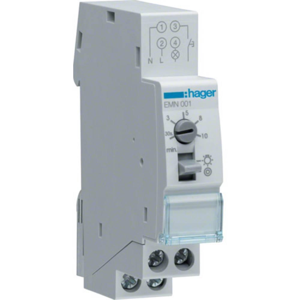 Hager EMN001 časovno stikalo za luč na stopnišču vodilo 230 V