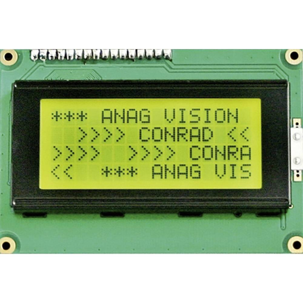 LCD zaslon, črna, rumeno-zelena (Š x V x G) 87 x 60 x 13.6 mm 6H LED EV