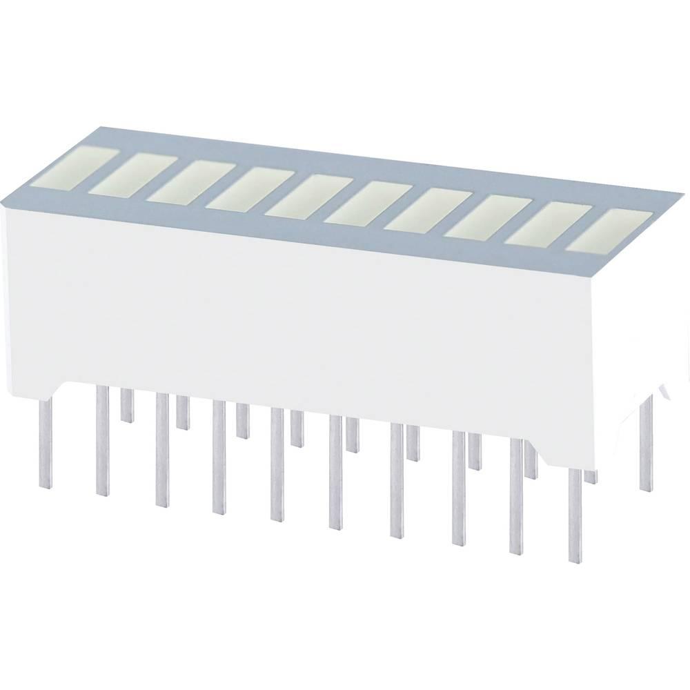 LED-søjlediagram Kingbright RBG 1000 (L x B x H) 25.4 x 10.16 x 12 mm 10x Rød