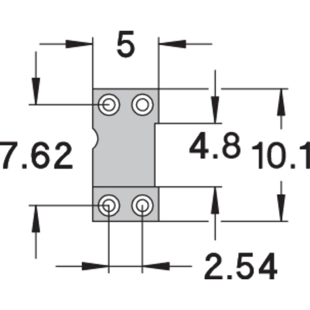 IC-fatning Rastermål: 7.62 mm Poltal: 4 Preci Dip Præcisions-kontakt 1 stk