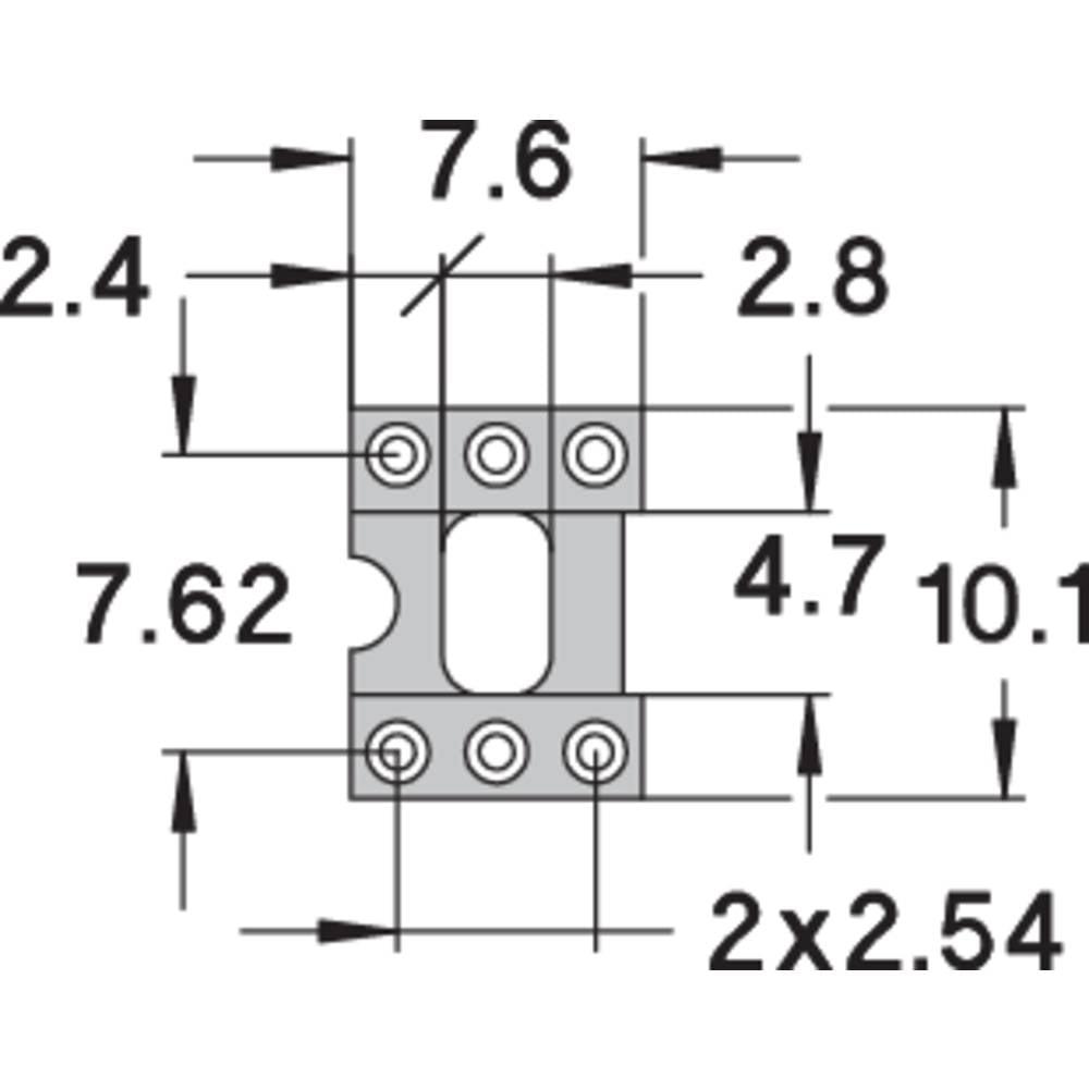 IC podnožje 7.62 mm št. polov: 6 Preci Dip 110-83-306-41-001101 natančni kontakti 1 kos