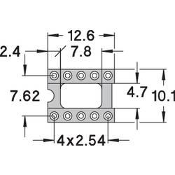 IC-fatning Rastermål: 7.62 mm Poltal: 10 Preci Dip Præcisions-kontakt 1 stk