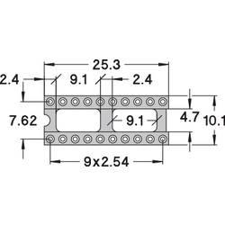 IC-fatning Rastermål: 7.62 mm Poltal: 20 Preci Dip Præcisions-kontakt 1 stk