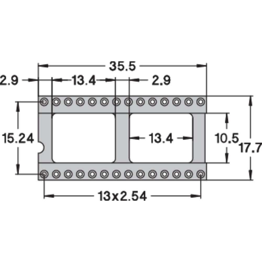 IC podnožje 15.24 mm št. polov: 28 Preci Dip 110-83-628-41-001101 natančni kontakti 1 kos