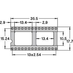IC-fatning Rastermål: 15.24 mm Poltal: 28 Preci Dip 110-83-628-41-001101 Præcisions-kontakt 1 stk