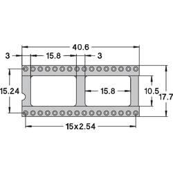 IC-fatning Rastermål: 15.24 mm Poltal: 32 Preci Dip 110-83-632-41-001101 Præcisions-kontakt 1 stk
