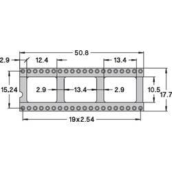 IC-fatning Rastermål: 15.24 mm Poltal: 40 Preci Dip 110-83-640-41-001101 Præcisions-kontakt 1 stk