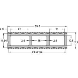 IC-fatning Rastermål: 15.24 mm Poltal: 50 Preci Dip Præcisions-kontakt 1 stk