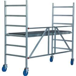 Aluminij Oder Mobilni Delovna višina (maks.): 3 m Krause STABILO Professional 720009 Srebrna 49.4 kg