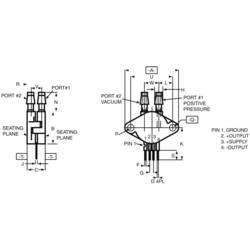 Senzor tlaka NXP Semiconductors MPX2010DP 0 kPa do 10 kPa tiskano vezje