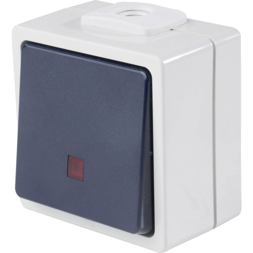 as - Schwabe 62453 gumb z lučko IP54 sive barve