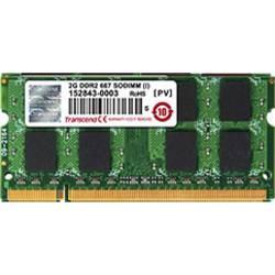 Transcend TS128MSQ64V6U notebook pomnilniški modul 1 GB 1 x 1 GB ddr2-ram 667 MHz CL5 5-5-5