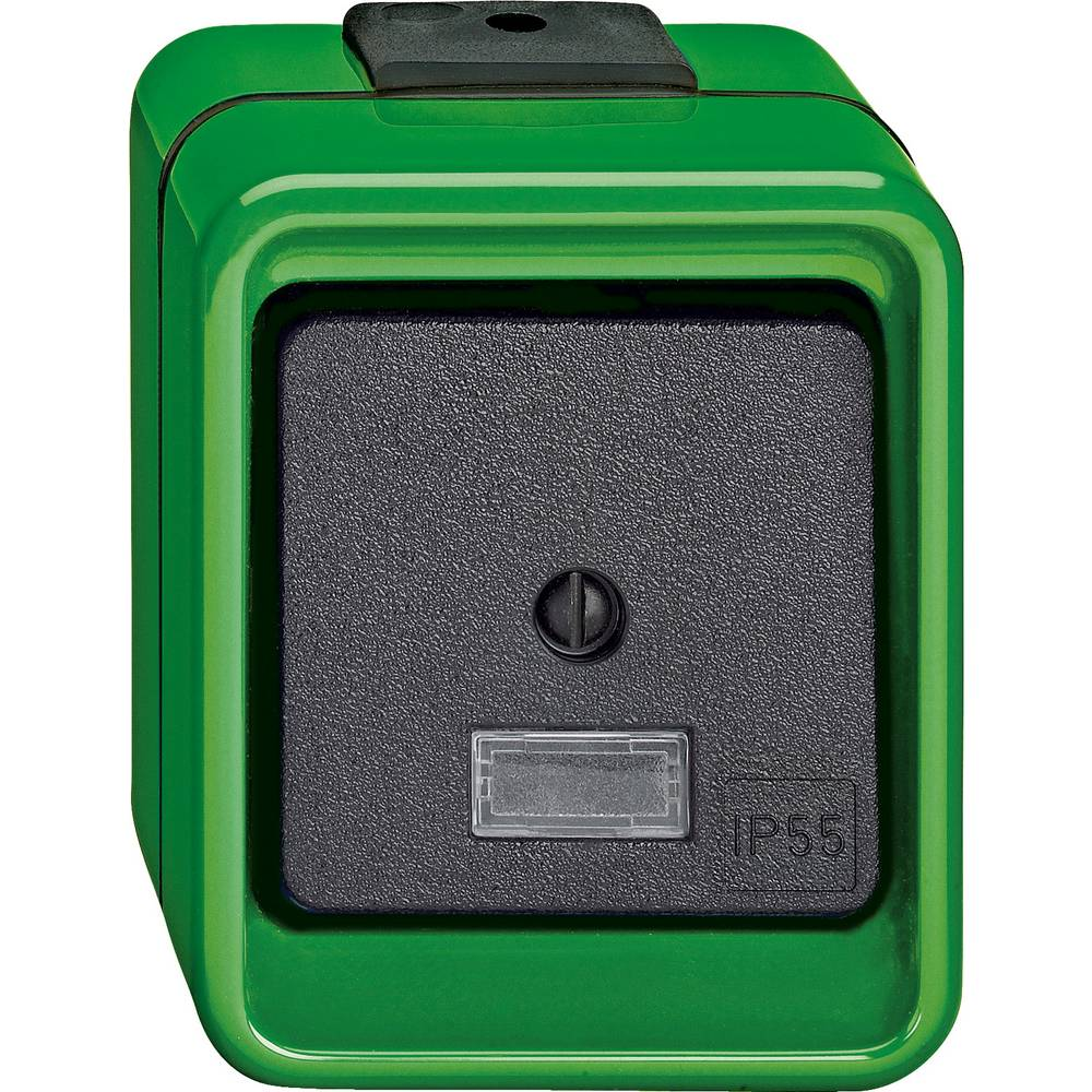 Stikalo IP55 Zelena Merten 370677