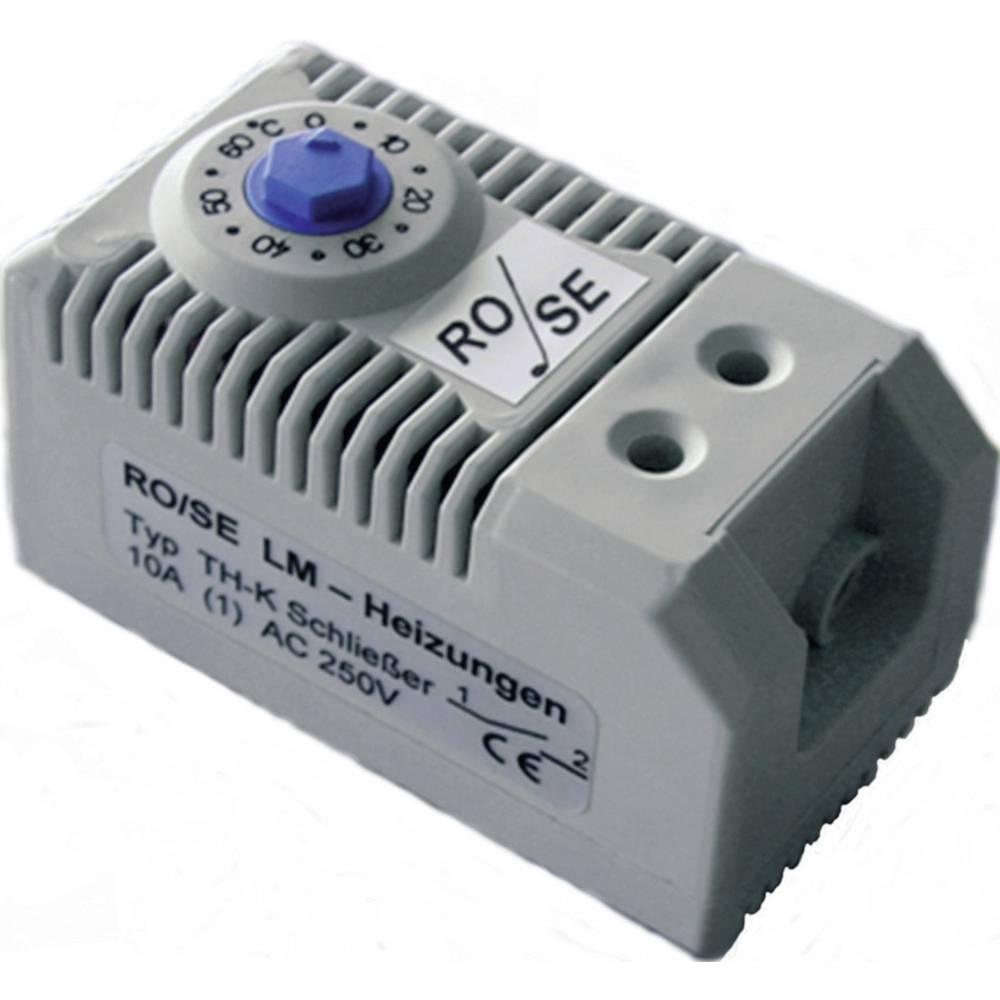Termostat til opvarmning i kontaktskabe TH-K Rose LM 1 Schließer (value.1345270) (L x B x H) 60 x 32 x 43 mm