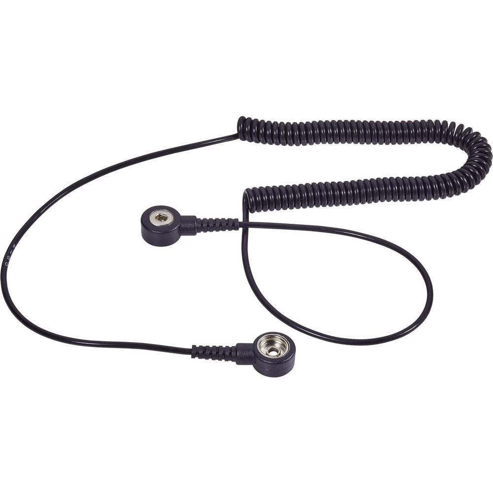 ESD ozemljitveni kabel 2.40 m Wolfgang Warmbier 2100.752.3.10 pritisni gumb 10 mm, pritisni gumb 3 mm
