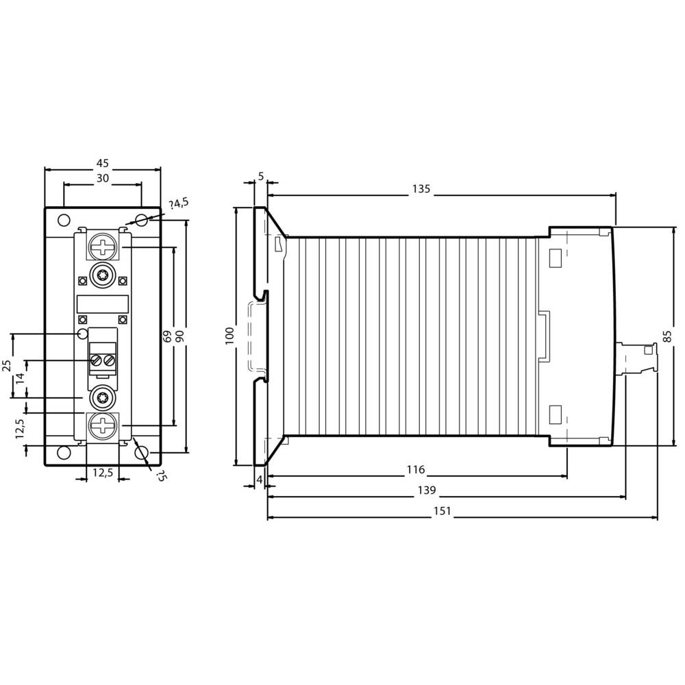 Halvlederkontaktor Strakskoblende 1 stk 3RF2340-1BA02 Siemens 1 x sluttekontakt 40 A