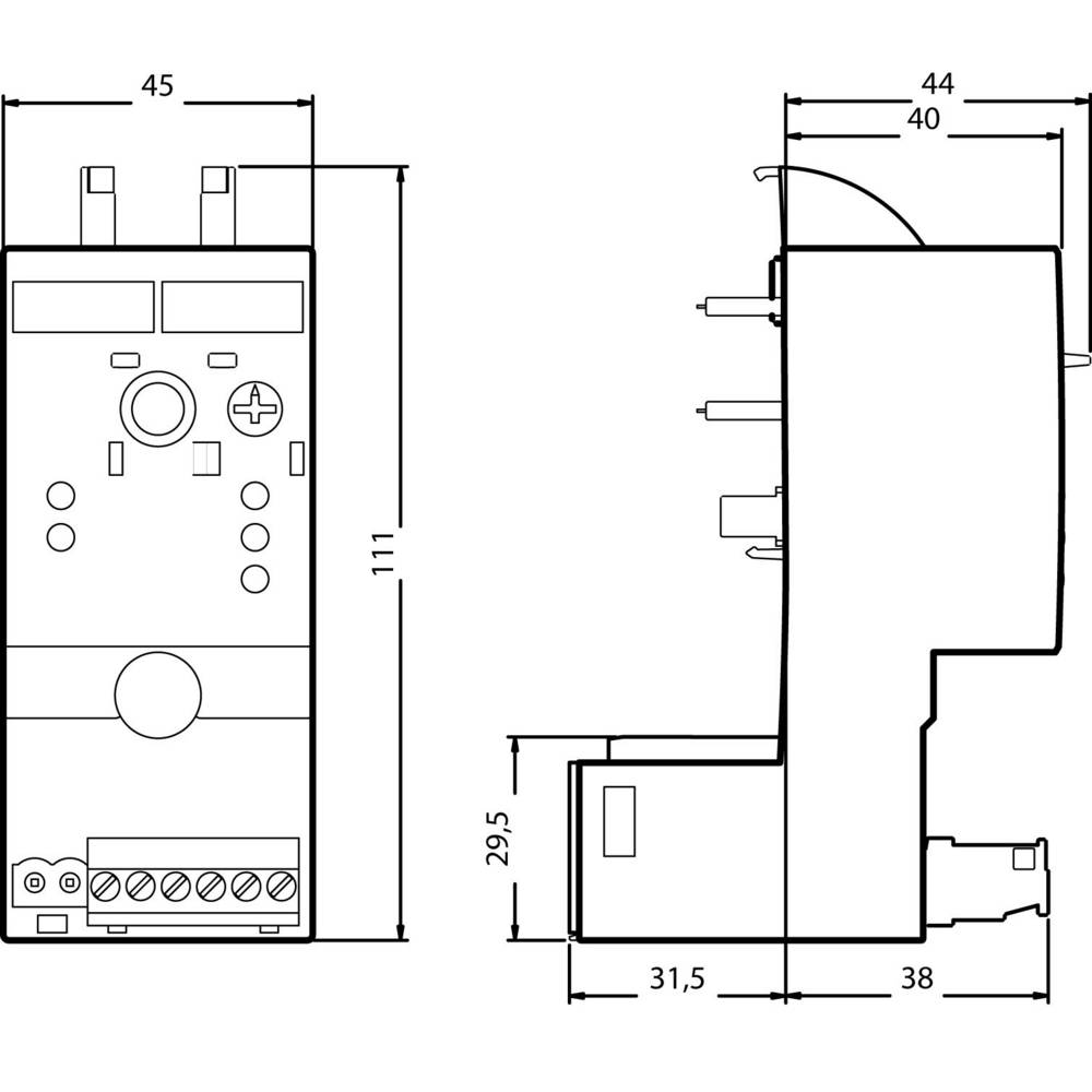 Leistungsregler (value.1454725) 1 stk Siemens 3RF2920-0HA13 Koblingsspænding (max.): 230 V/AC (B x H x T) 45 x 111.5 x 69.5 mm