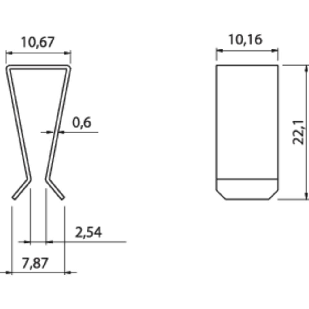 Hladilno telo s sponko za tranzistor Fischer Elektronik primerno za: TO-220 (D x Š x V) 22.1 x 10.2 x 10.7 mm