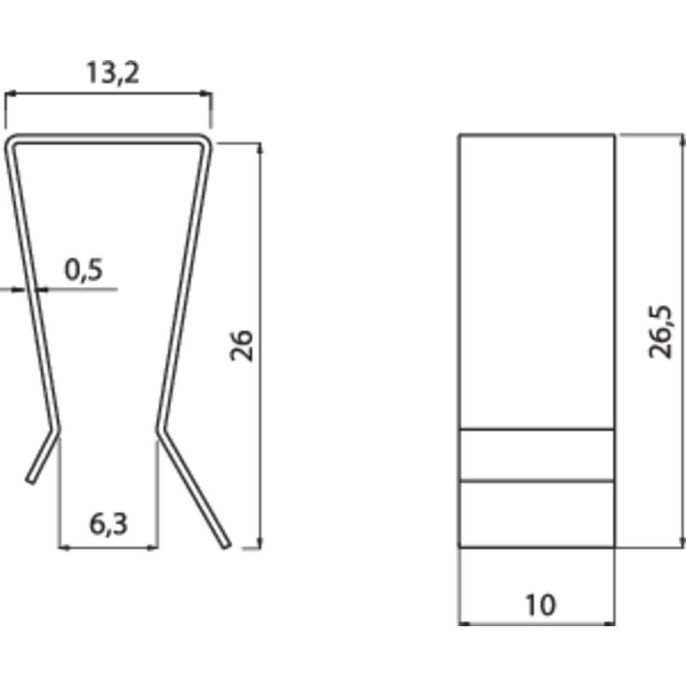 Hladilno telo s sponko za tranzistor Fischer Elektronik primerno za: TO-220 (D x Š x V) 26.5 x 10 x 13.2 mm