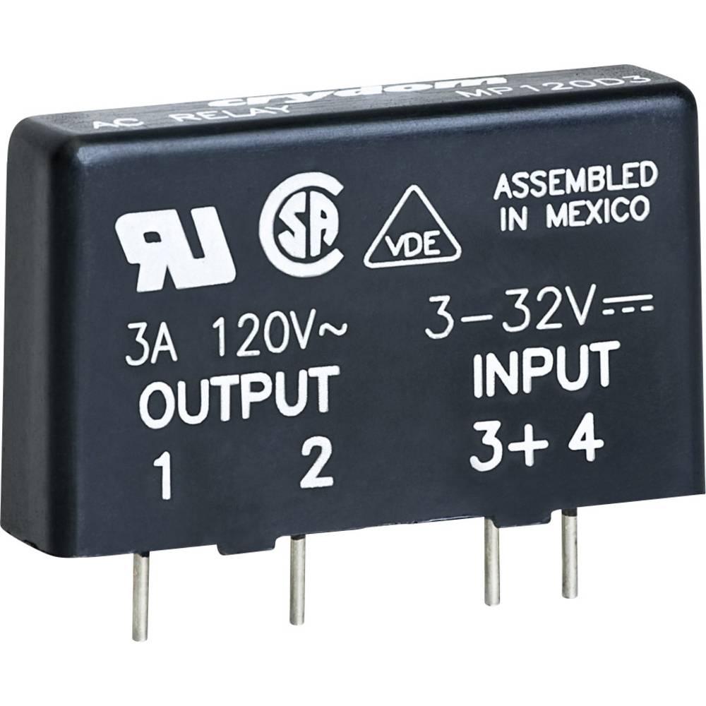 Halbleiterrelais (value.1292894) 1 stk Crydom MP240D3 Last-Strøm (maks.): 3 A Koblingsspænding (max.): 280 V/AC Vekslende ved nu