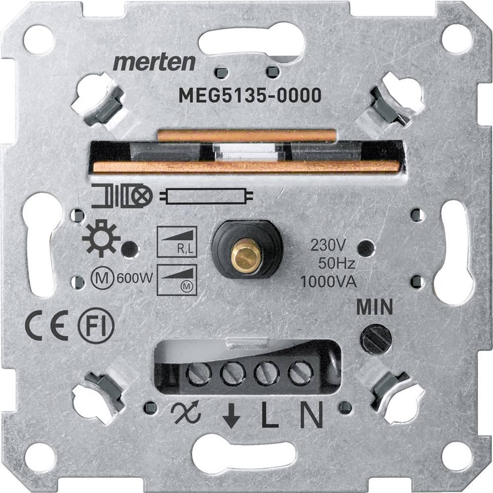 Podometni zatemnilnik Primerno za svetilke: Klasična žarnica, Halogenska žarnica, Fluorescentna žarnica Aluminij Merten MEG5135-
