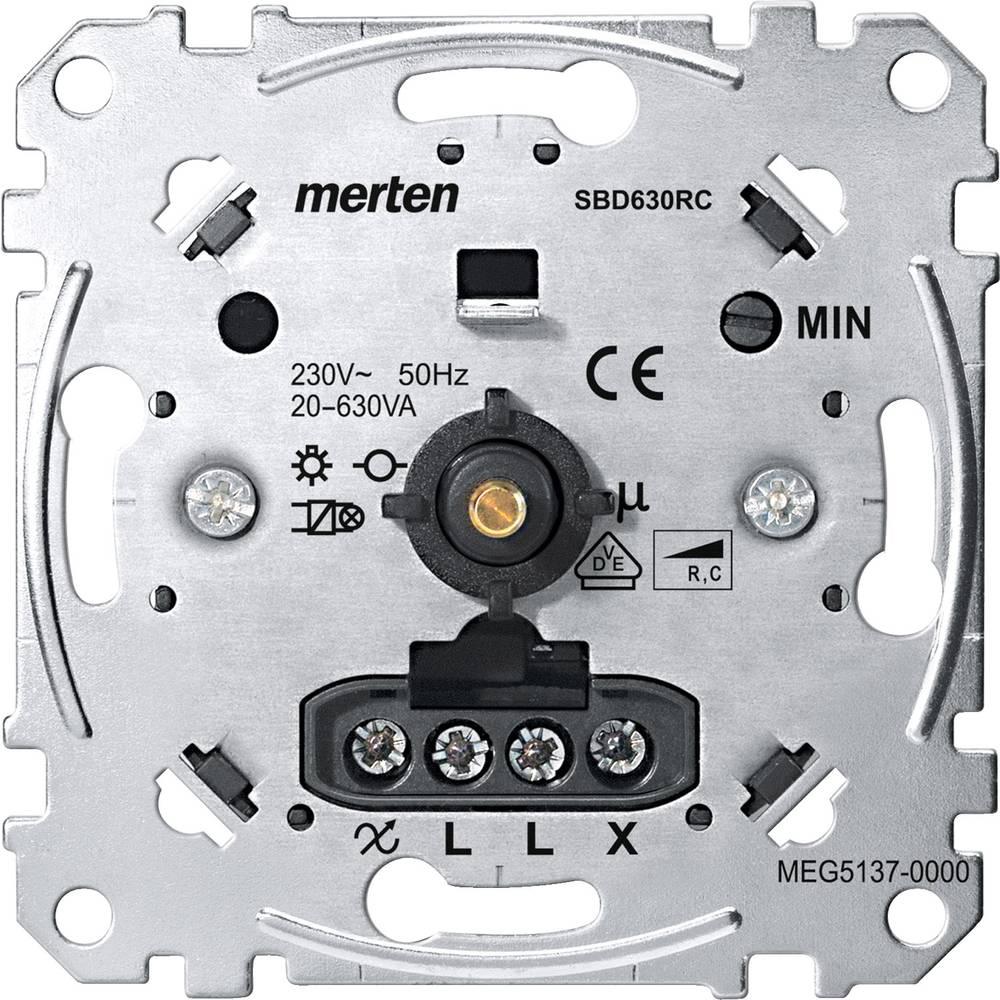 Podometni zatemnilnik Primerno za svetilke: Klasična žarnica, Halogenska žarnica Aluminij Merten MEG5137-0000