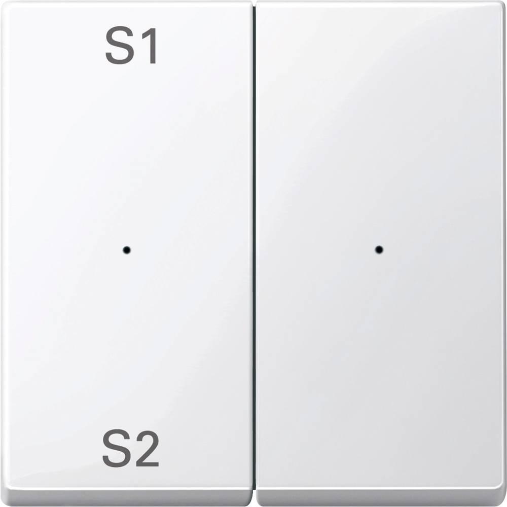 Tipka za stikalo IP20 Polarno bela Merten MEG5226-0319