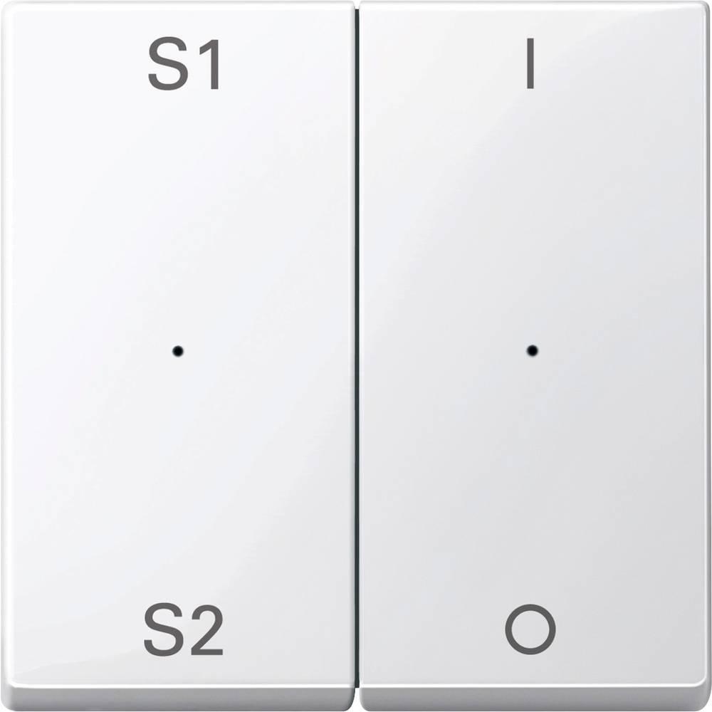 Tipka za stikalo IP20 Polarno bela Merten MEG5228-0319
