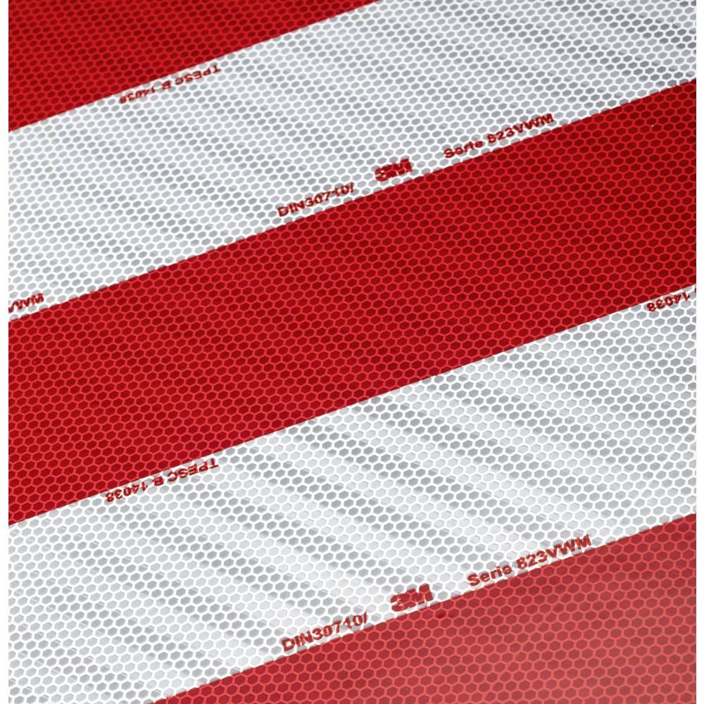 3M 823i 10er 744212 Rdeča, Bela (D x Š) 705 mm x 141 mm Prilagodljiv, Mikroprizmatičen