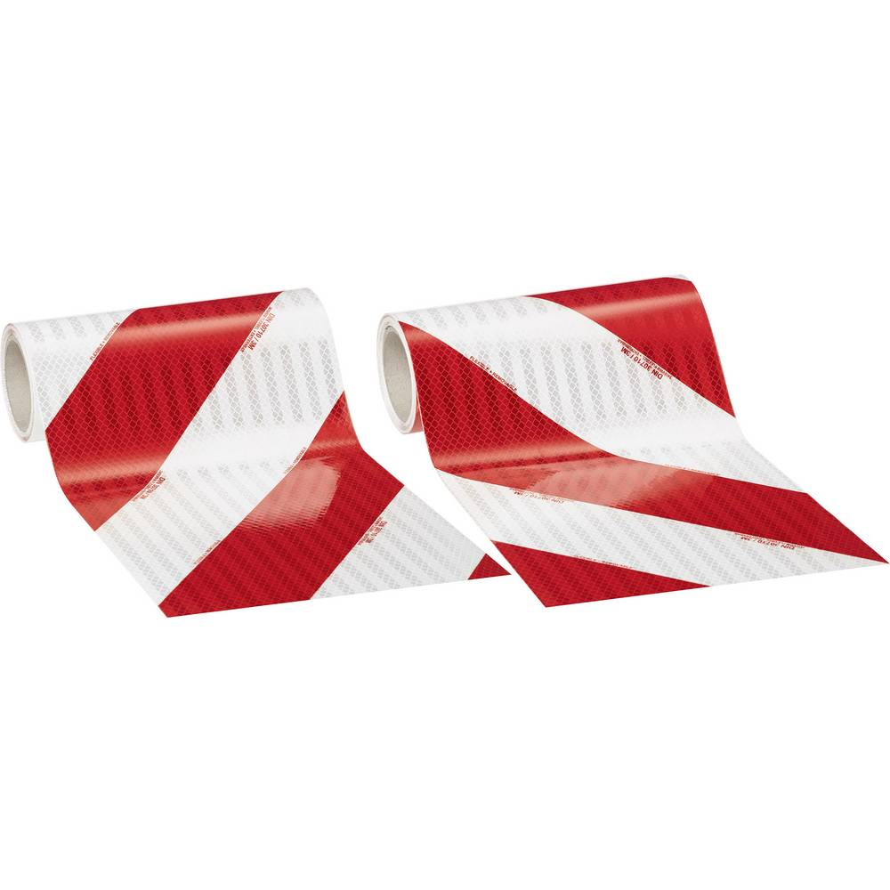 3M High Intensity Grade 3410 3410AP28 Bela (odsevna), Rdeča (odsevna) (D x Š) 9 m x 282 mm Za pakete, Leva nastavitev, Desna nas