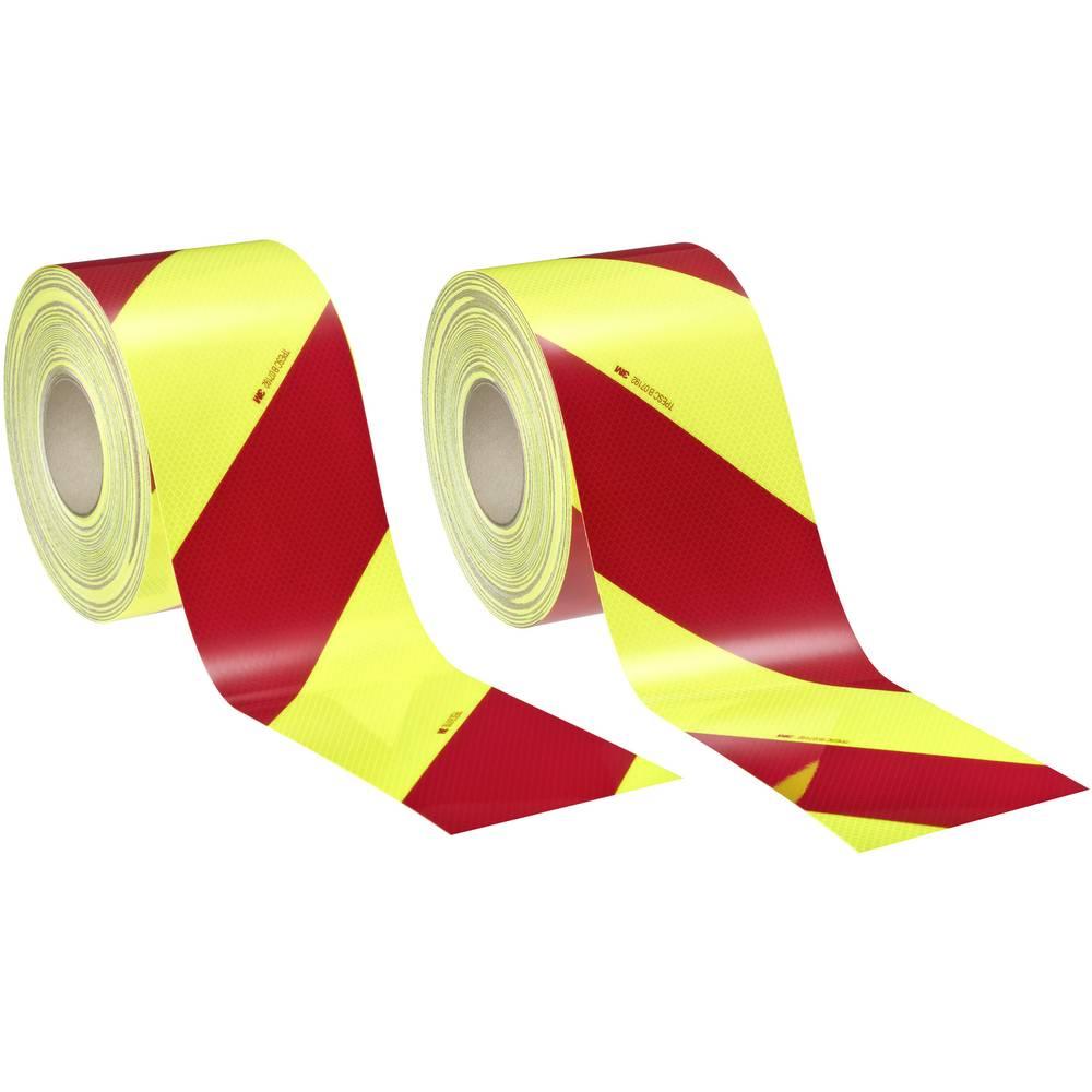 3M Diamond Grade™ DG³ 4083-33 408333AP Rdeča (fluorescentna) (D x Š) 45.7 m x 140 mm Za pakete, Leva nastavitev, Desn