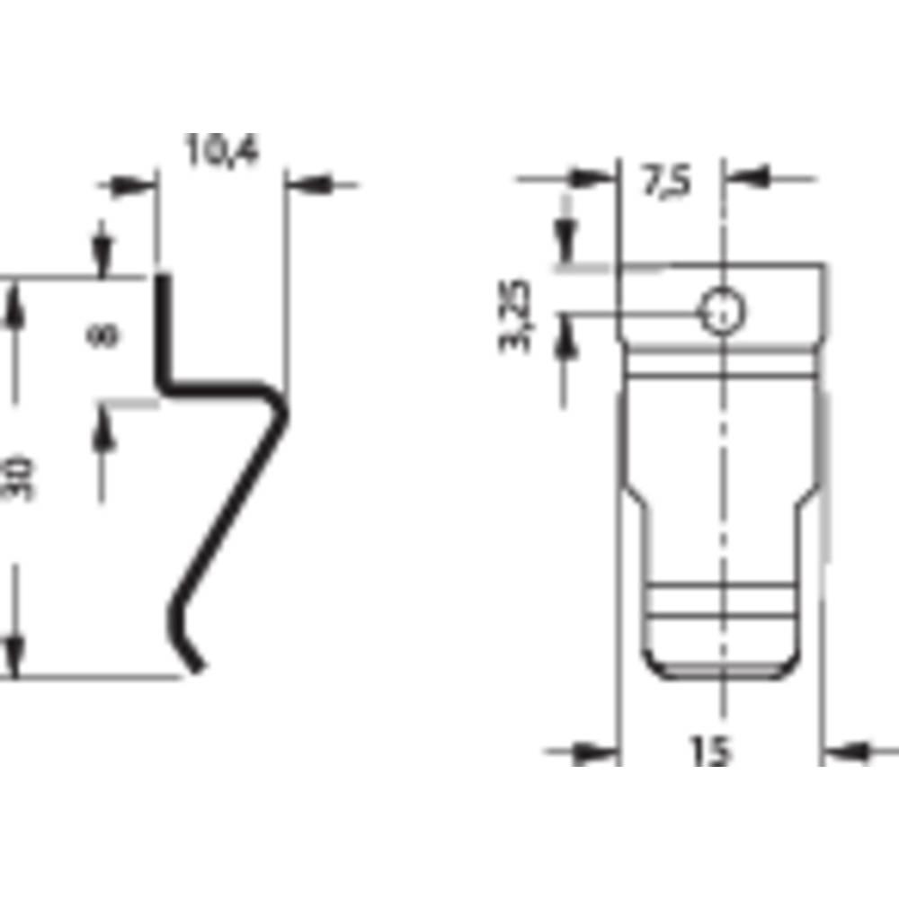 Držalna vzmet za tranzistor enojna THFM 1 Fischer Elektronik
