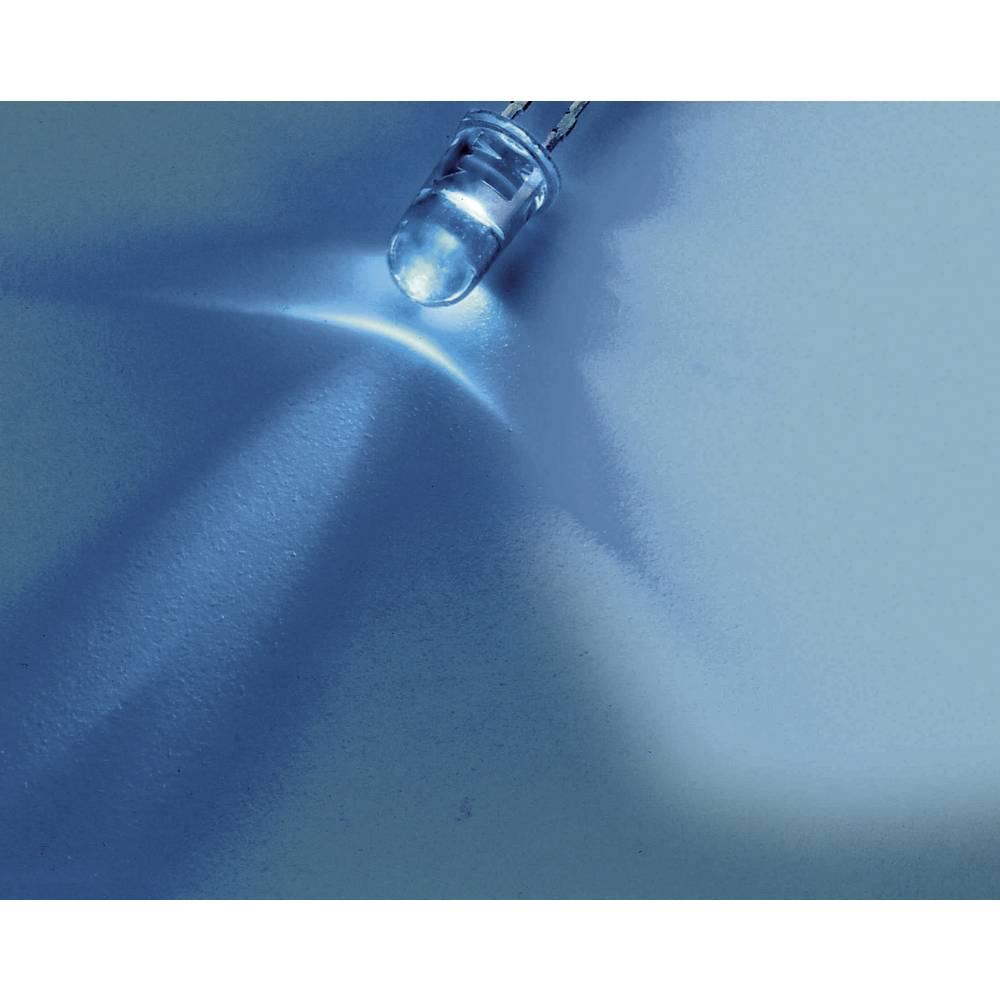 Ožičena LED dioda, modra, okrogla 5 mm 4700 mcd 30 ° 20 mA 3.2 V Nichia NSPB510AS