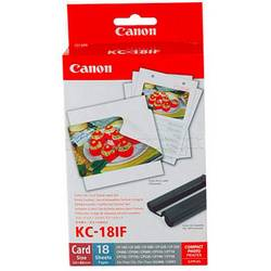 Canon Selphy Photo Sticker Pack KC-18IF 7741A001 photo printer caRtRidge 18 List
