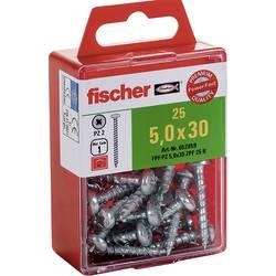 Vijci s upuštenom glavom 5 mm 40 mm Križni Pozidriv Galvansko pocinčani 15 ST Fischer 652860