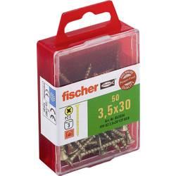 Fischer 653934 vijaki z vgrezno glavo 3.5 mm 30 mm križni pozidriv galvansko pocinkan 50 kos