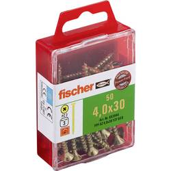 Fischer 653944 vijaki z vgrezno glavo 4 mm 30 mm križni pozidriv galvansko pocinkan 50 kos