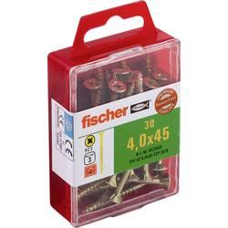 Fischer 653948 vijaki z vgrezno glavo 4 mm 45 mm križni pozidriv galvansko pocinkan 30 kos