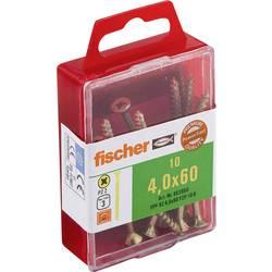 Fischer 653950 vijaki z vgrezno glavo 4 mm 60 mm križni pozidriv galvansko pocinkan 10 kos