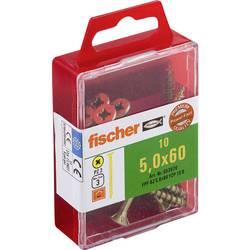 Fischer 653970 vijaki z vgrezno glavo 5 mm 60 mm križni pozidriv galvansko pocinkan 10 kos