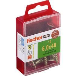 Fischer 653976 vijaki z vgrezno glavo 6 mm 40 mm križni pozidriv galvansko pocinkan 10 kos