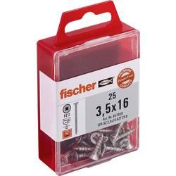 Fischer 657459 lesni vijak 3.5 mm 16 mm križni pozidriv galvansko pocinkan 25 kos