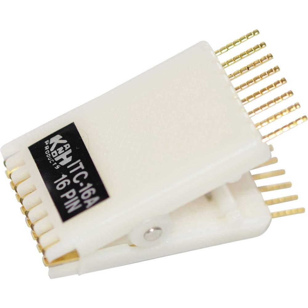 IC-testclips 1 stk 187909 Passer til rastermønster: 2.54 mm Passende til kabinet (halvleder): DIL-14 , DIL-16 , DIP-14 , DIP-16