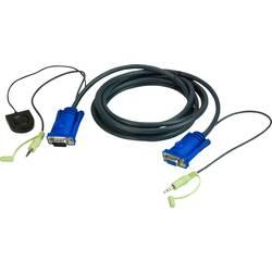 KVM Adapter [1x Muški konektor VGA, 3,5 mm banana utikač - 1x Ženski konektor VGA, 3,5 mm banana utikač] 3 m Crna ATEN