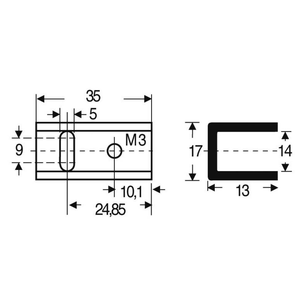 Hladilno telo 17 K/W (D x Š x V) 35 x 17 x 13 mm TO-220 Fischer Elektronik SK 13 35 SA-220