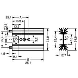 Profil-kølelegeme 11 K/W (L x B x H) 38.1 x 34.9 x 12.7 mm TO-220 , SOT-32 Fischer Elektronik SK 104 38,1 STS