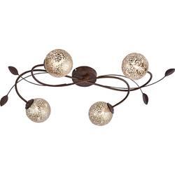 stropna svjetiljka led, halogena žarulja G9 160 W Paul Neuhaus GRETA 6395-48 hrđa, zlatna